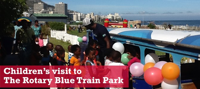 Children from Khayelitsha enjoy The Rotary Blue Train Park experience