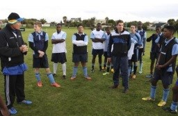 Soccer legend Neil Tovey trains three schools in the Western Cape