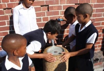 Learners from Nebo Primary School get a taste for water