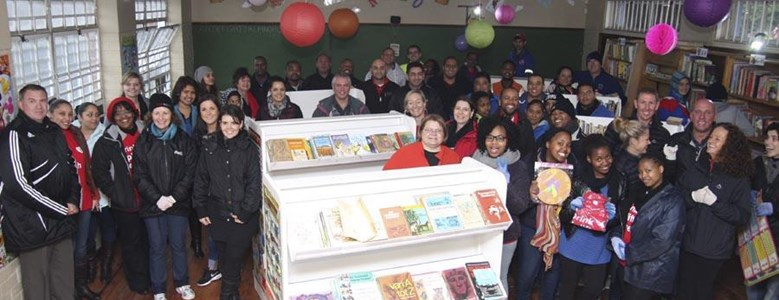 Learners from Nebo Primary return to find a new library at their school for Mandela Day
