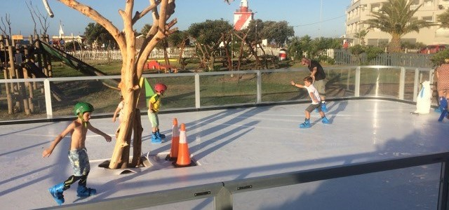 SA's first outdoor ice rink opens at Rotary Blue Train Park in Mouille Point, Cape Town