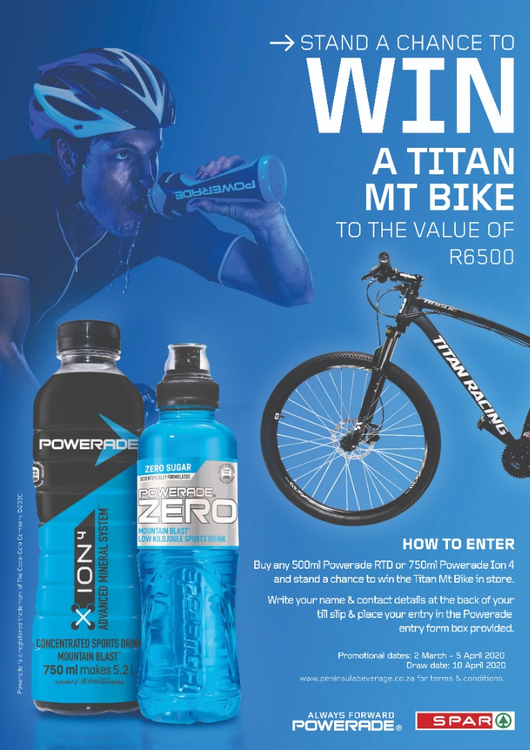 SUPERSPAR CLANWILLIAM  POWERADE TITAN MT BIKE COMPETITION RULES